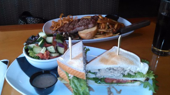 """Fort St. John, Canada: Steak Sandwich and """"The Club"""" with House Roasted Turkey!"""