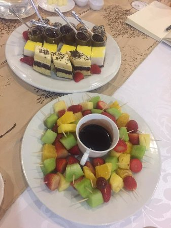 Meikles Hotel: The array of desserts offered after main course at the promotion