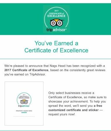 Rossett, UK: certificate