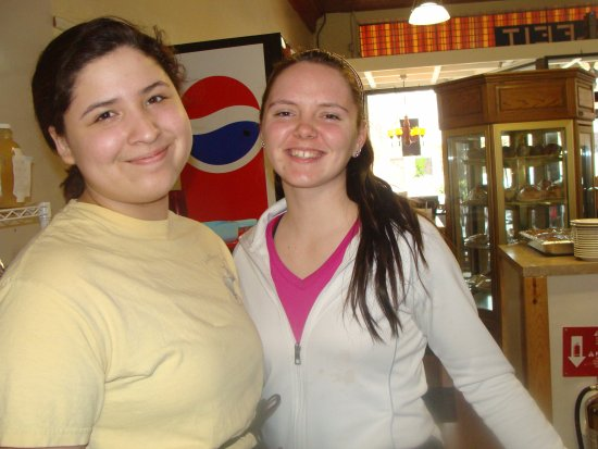 "Amery, WI: A couple of our great servers (I remember when they came in as ""babies"""