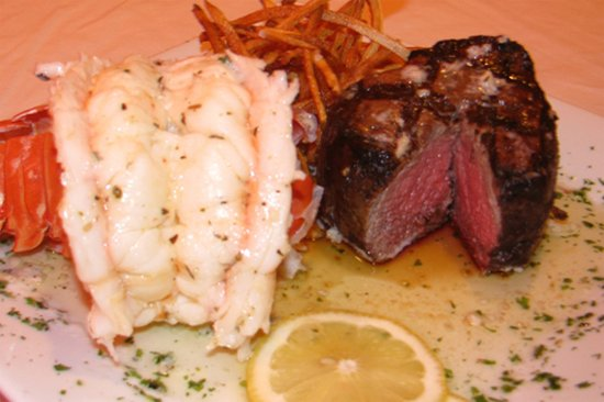 Oyster: Butter Poached Lobster & Filet Mignon - Surf & Turf Amazing!