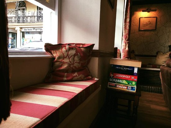South Molton, UK: View from snug bar area