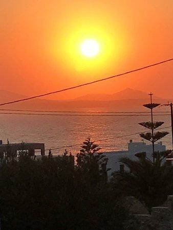 Stelida, Greece: Sonnenuntergang (Blickrichtung Naxos)