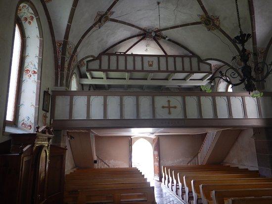 Chiesa di Andraz: Particolare soppalco x accogliere fedeli e scola cantorum