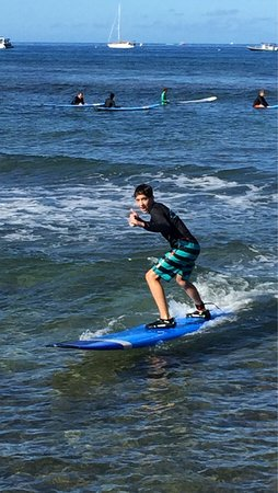 Goofy Foot Surf School, Inc: My kids suffering for the first time with Keith's guidance.
