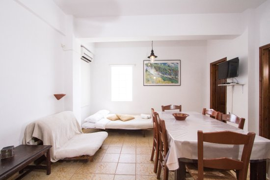 Kaliviani, Greece: Duplex Apartment #5, living room area, sofa bed