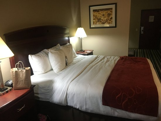 Comfort Suites Waco North: King sized bed