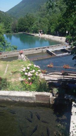 Fanano, Italien: allevamento trote e lago