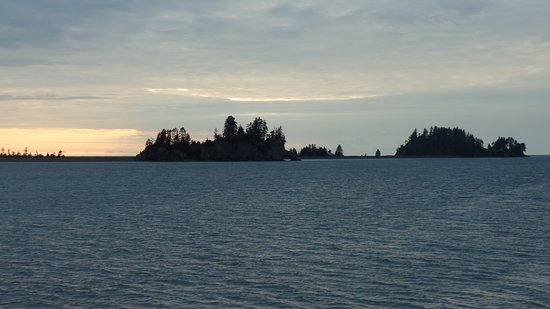 View from the dock at Seldovia, Ak, of Elephant Rock