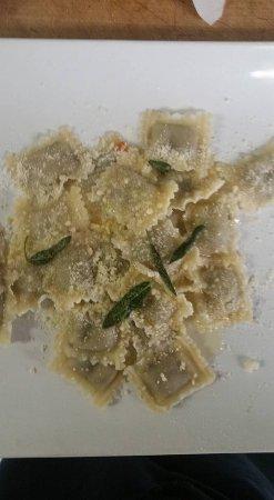 Iowa City, IA: Meat ravioli parmesan butter and sage