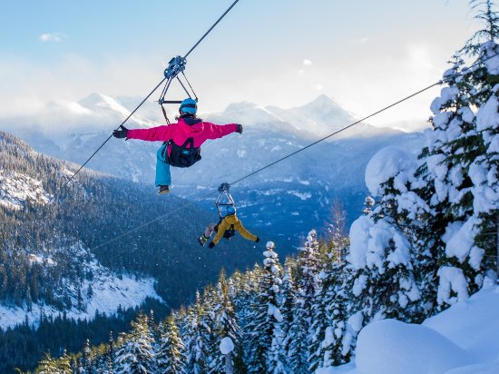Ziplining in Whistler Photo by The Adventure Group