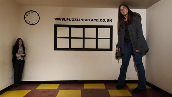 The Puzzling Place : That's me towering over my older sister.