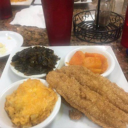 Jackson Soul Food: Catfish, macaroni & cheese, candied yams, and collard greens