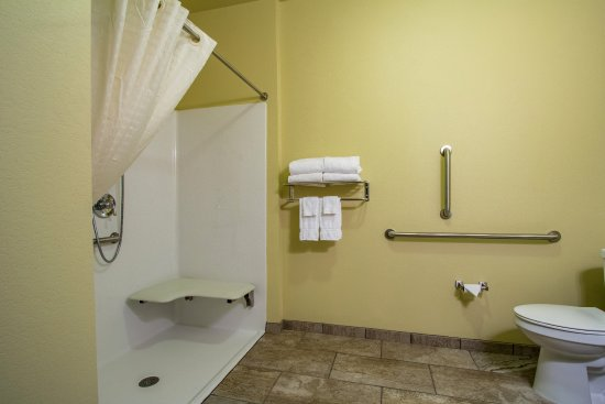 Orrville, OH: Roll in showers available in select few rooms, please call for availability