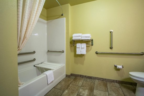 Orrville, OH: Handicap accessible bathrooms are available in a select few rooms, please call for availability