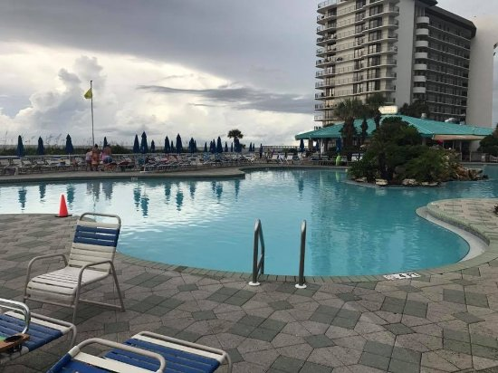 One Small View Of Pool With Restaurant Picture Of