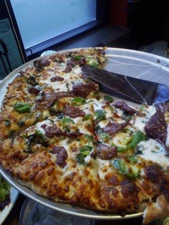 Roseville, MN: Korean Flank Steak Pizza.