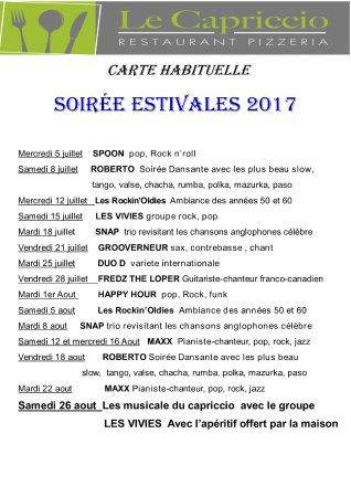 Chateauneuf de Grasse, Frankreich: programme de nos superbes  soirées