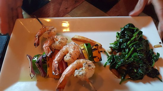 Owego, État de New York : Shrimp Skewer Plate