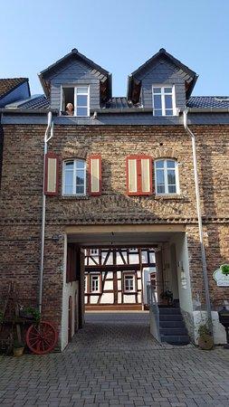Burgschwalbach, Γερμανία: Inside of guest house from courtyard/car park