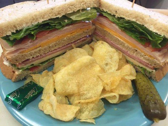 Kodiak, AK: The Happy Hunter Double-Decker sandwich!