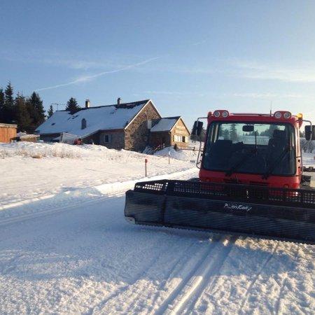 Le Valtin, France: Le damage de la piste de ski