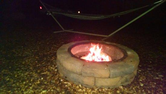 Romulus, NY: Campfire ring