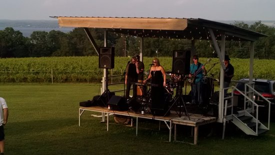 Romulus, NY: Diana Jacobs Band at Deck Party.