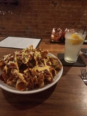 Greenfield, IN: Pulled pork nachos and lemonade mash-up