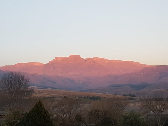 Winterton, South Africa: View from bedroom