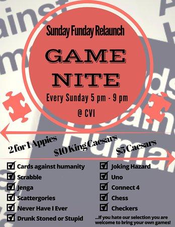 Duncan, Kanada: Game Nite Every Sunday!!!