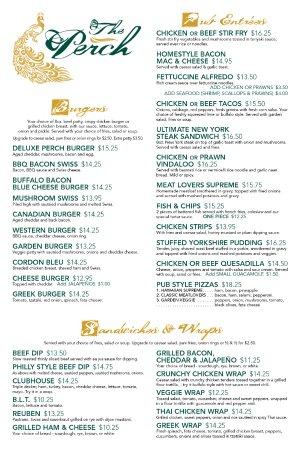 Summerland, Canadá: menu