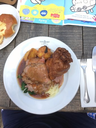 Goudhurst, UK: Roast Beef...decent portion