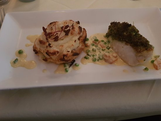 The Lime House: Fillet of cod with fish pie.
