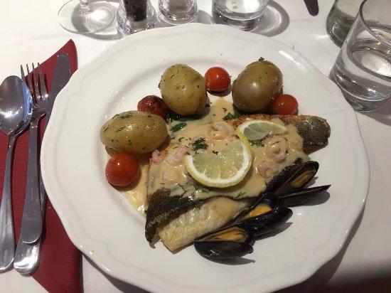 Dorking, UK: Sea bass