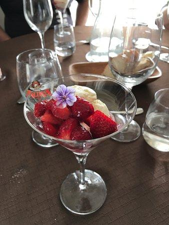 Pori, Finland: fresh strawberries and ice cream
