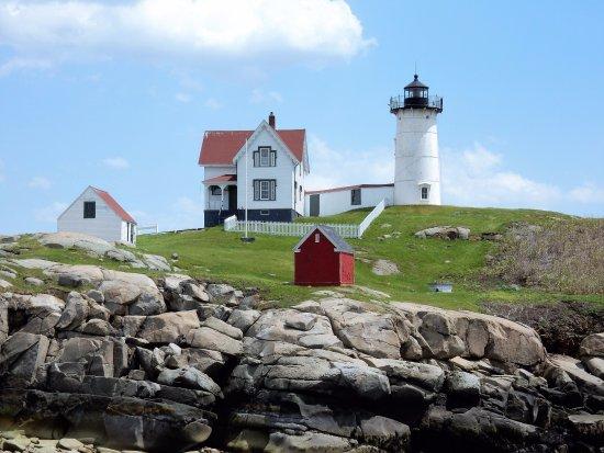 York, ME: Beautiful Cape Neddick Nubble Lighthouse