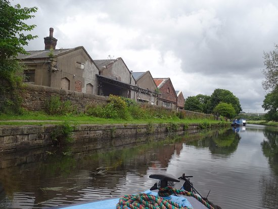 Hoghton, UK: Factory which was probably delivered to by barges