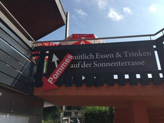 Traunstein, Deutschland: Oben ist das Restaurant