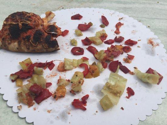 Traunstein, Germany: sind das Teile einer normalen Salami Pizza?