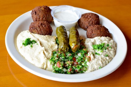 West Chester, OH: Vegetarian Combo (Hummus, Tabouli, Baba, Dawali and Falaffel)