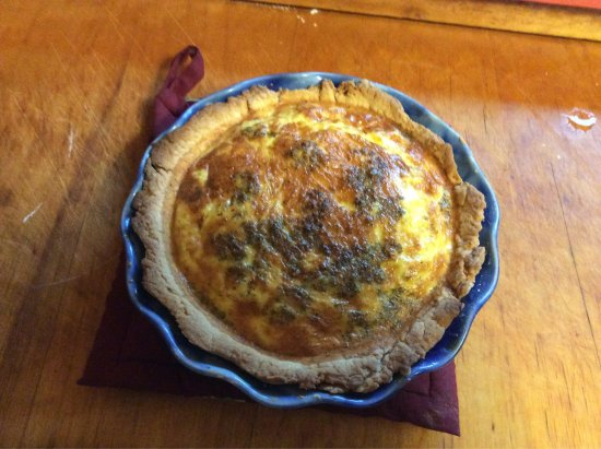 Holden, ME: Crab quiche...fabulous