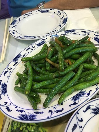 Harbor Palace: Green Bean with tiny bits of meat