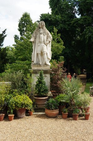 Chelsea Physic Garden: The statue of Dr Hans Sloane is prominently placed in the garden
