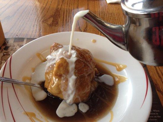 Millersburg, OH: apple dumpling with cream