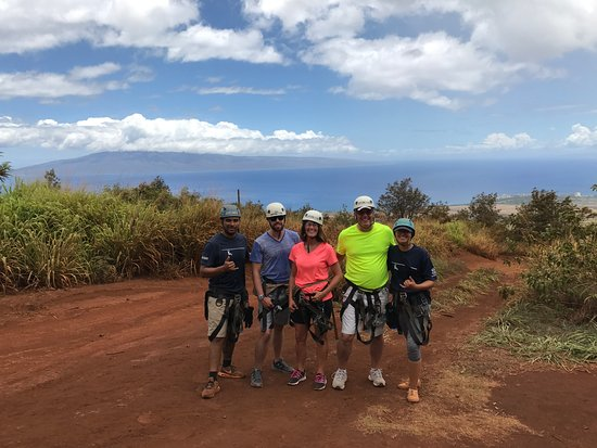 Ka'anapali, HI: Gides Mac and Kelly with the Island of Lanai in the background