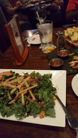 Bethesda, MD: Kale salad with Salmon