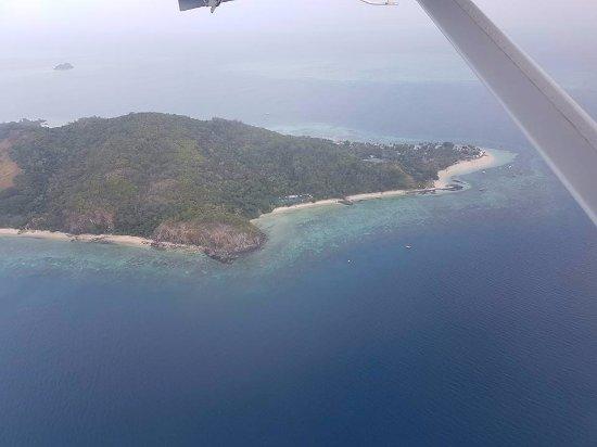 Castaway Island (Qalito), Fiyi: Seaplane Arrival