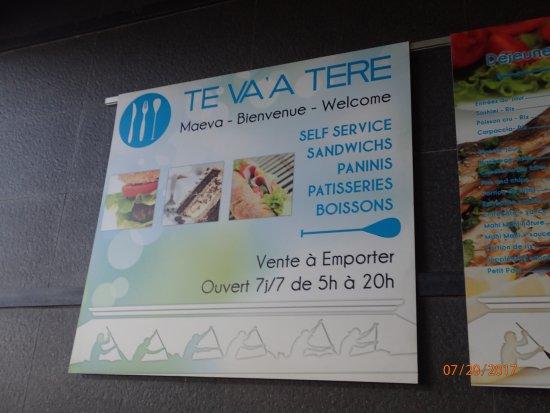 TE VA'A TERE : signage