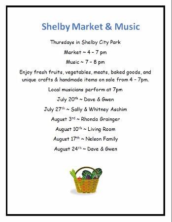 Shelby, Μοντάνα: 2017 Thursday evening schedule